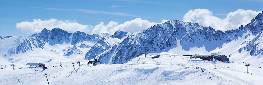 Snowy mountain landscape in Grandvalira