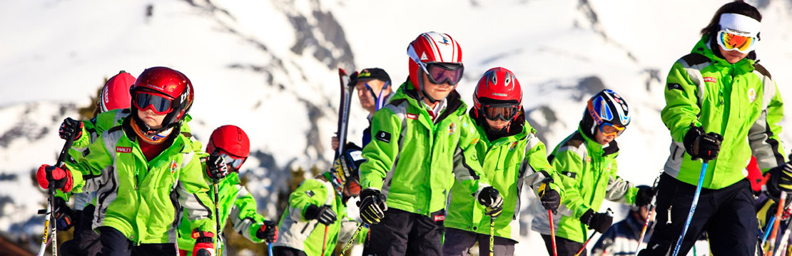 Children's ski school group in Grandvalira