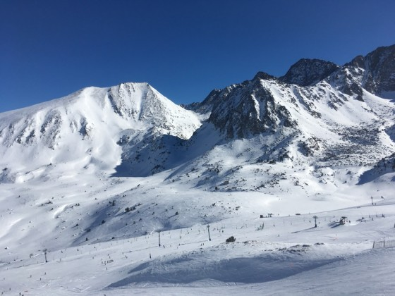 View of beginners area from Font Negre chairlift
