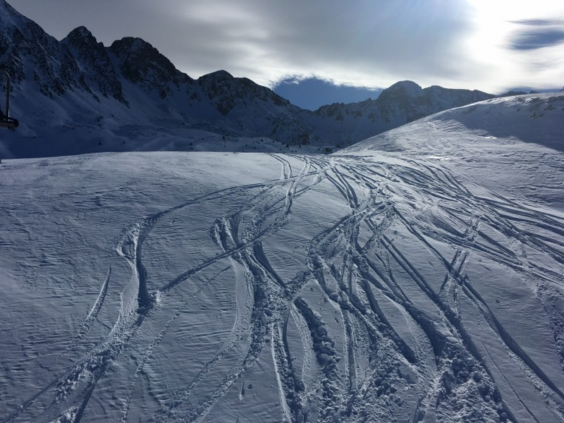 Up to 80 cm of snow coverage on the slopes of Grandvalira