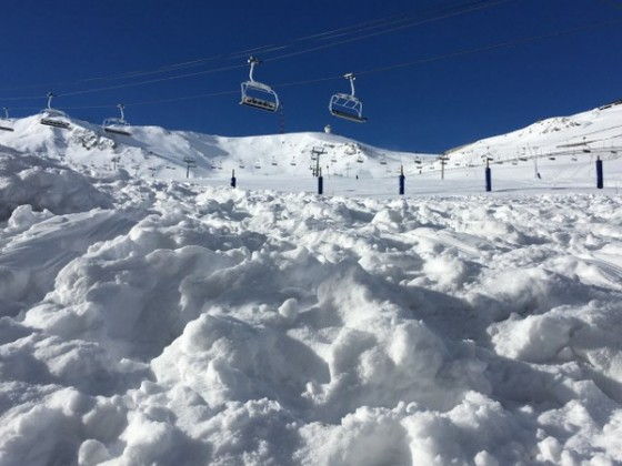 The chairlifts haven't opened yet in Grandvalira