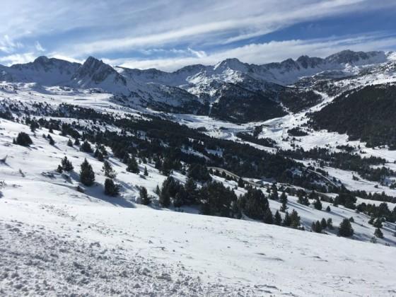 View of the mountain range of Grau Roig