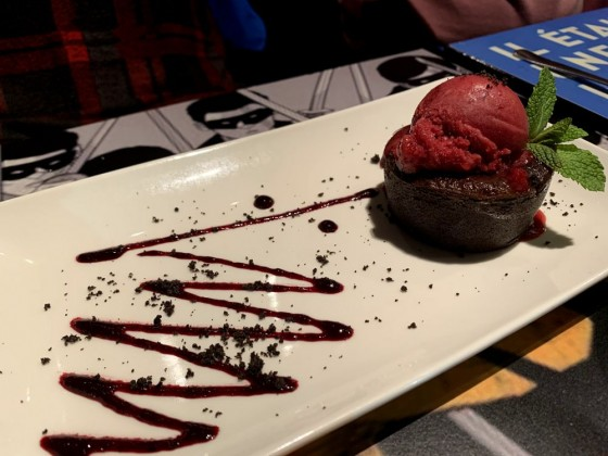 Chocolate fondant at Bo & Gola restaurant