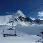 On the Coma Blanca chairlift