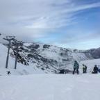 Standing at the top of the red Directa run back towards Pas de la Casa