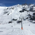Looking back from Cubil chairlift