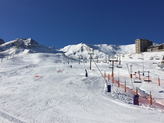 Lovely skiing day in Pas