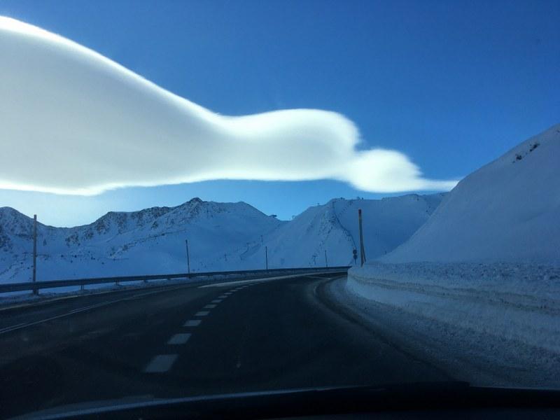 The road to Pas de la Casa was clean today