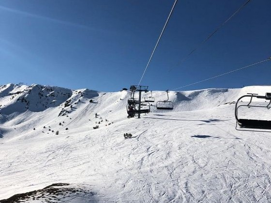View from Solanelles chairlift