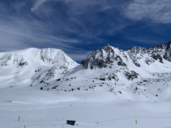Views of the mountain from TK Pic Negre 1 drag lift