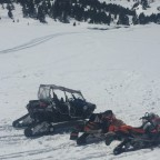 Snowmobiles in Pessons