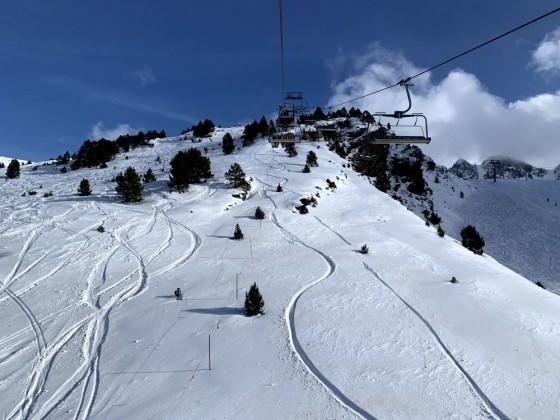 Fresh tracks beneath TK Moreto chairlift