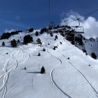 Fresh tracks beneath TK Moreto chairlift