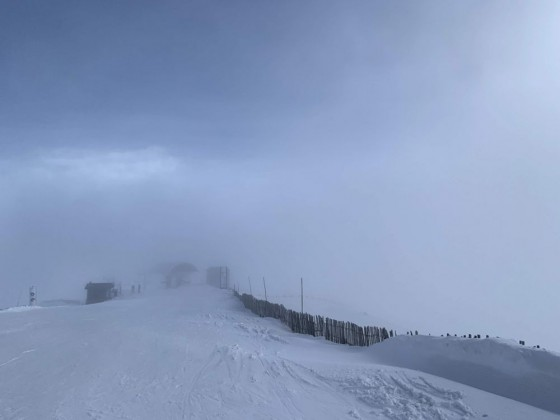 Mist at the the top of the Solanelles chairlift