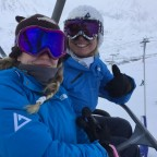 Sofia & Esther heading up Pas de la Casa chair