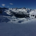 The view from the top of Pic Blanc chairlift