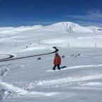 "Riding off piste through the ""Fields of Joy"" in Grau Roig"
