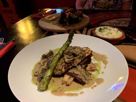 Chicken dish at Underground Sportsbar & Grill