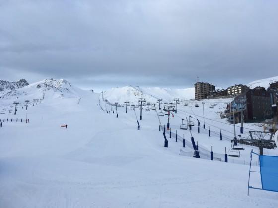 Freshly groomed slopes in Pas de la Casa