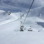 Pic Blanc chairlift and dreamy snow conditions!