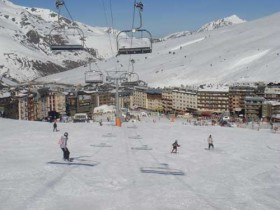Under The Pas de la Casa Chairlift