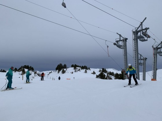 The top of Montmalus drag lift