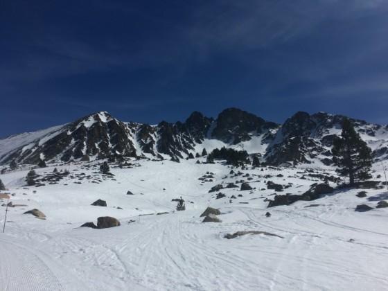 View from Portella blue run