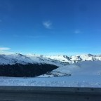 White mountains and blue sky in Grandvalira