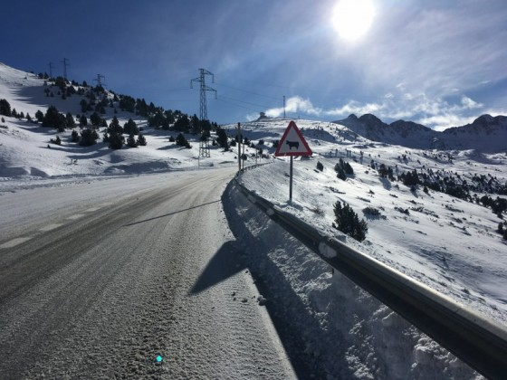 It was mandatory the use of snow chains in Pas