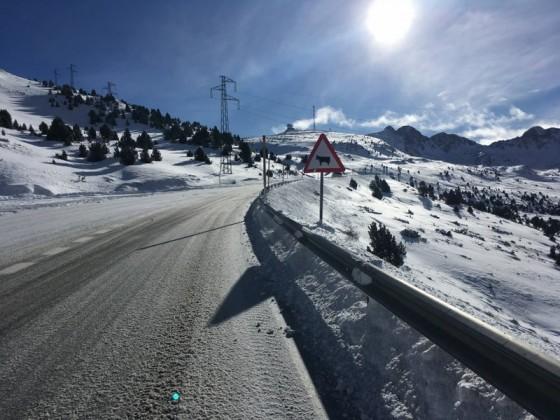 The road to Pas de la Casa looking beautiful