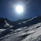 Sun streaked slopes below the TSD6 Font Negre chairlift