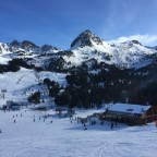 Grau Roig 3 Estanys and chairlifts view