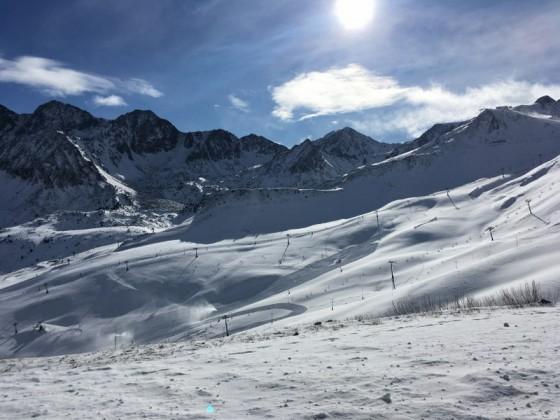 Beautiful day over the mountains of Pas de la Casa