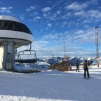 Top of the Antennes lift