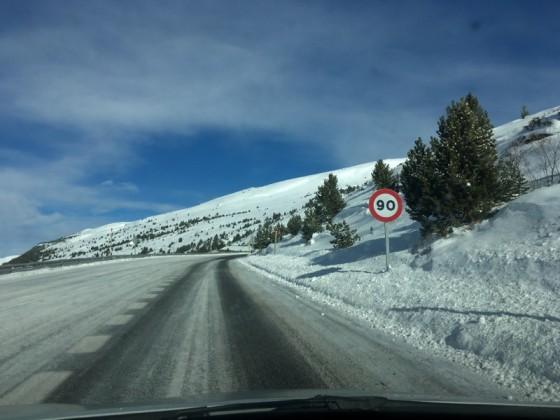 The use of snowchains was mandatory to access to Pas de la Casa