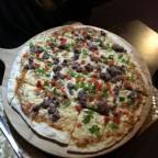 Delicious pizza in El Fogo Negre restaurant