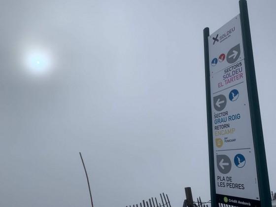 A misty day on the slopes
