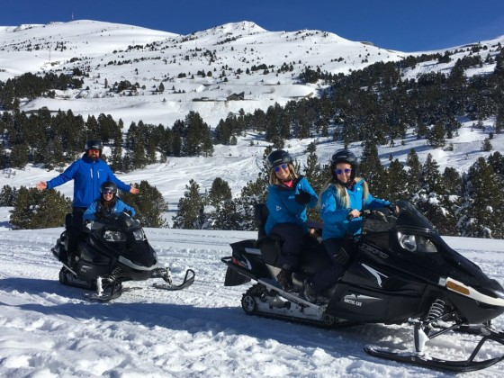 Andorra Resorts Team outing on Snowmobiles! (with Roc Roi)