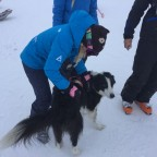 Sofia with Arva the rescue dog