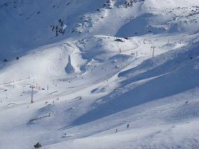 Aerial Shot Of The Snow Park By Coll dels Issards