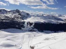 View of Grau Roig from top of Riberal black run