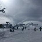 Base of Pas de la Casa slopes on a cloudy morning