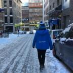 Dusting of snow in the streets of Pas de la Casa