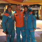 Pas de la Casa ski school instructors showing off their new uniforms! Very nice guys!