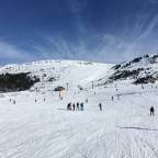 Beautiful quiet slopes in Grandvalira Grau Roig, taken from the base of Pic Blanc chairlift.