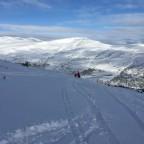 "Riding off piste through the ""rabbit fields"" in Grau Roig"