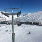 Font Negre chairlift looking back at resort