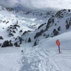 Montmallus red run - one of our favourites in Grandvalira